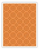 Sizzix Texture Fades A2 Embossing Folder - Rosettes - 662391